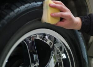 How to make tires black again